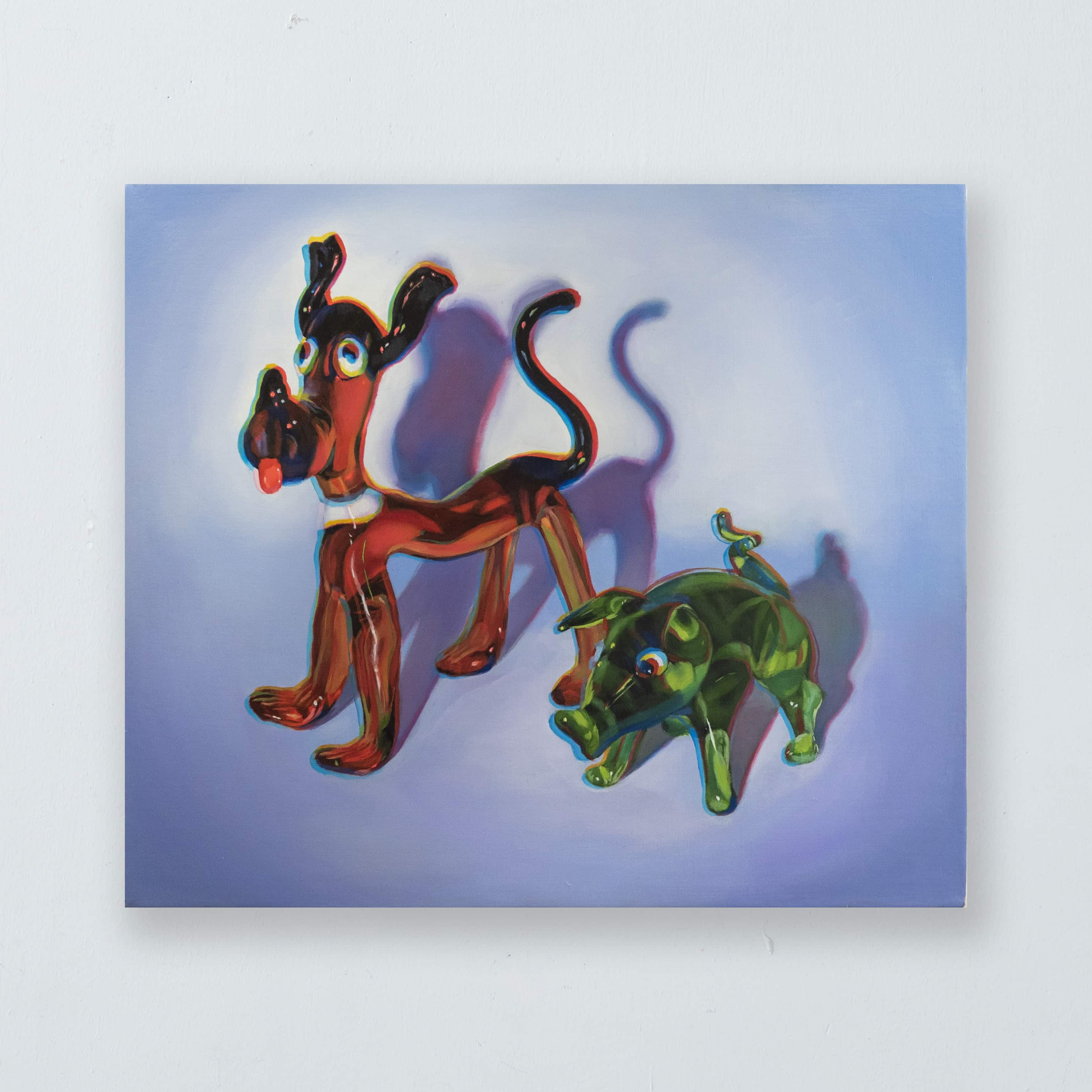 "chromatic aberration series ""dog and pig"""